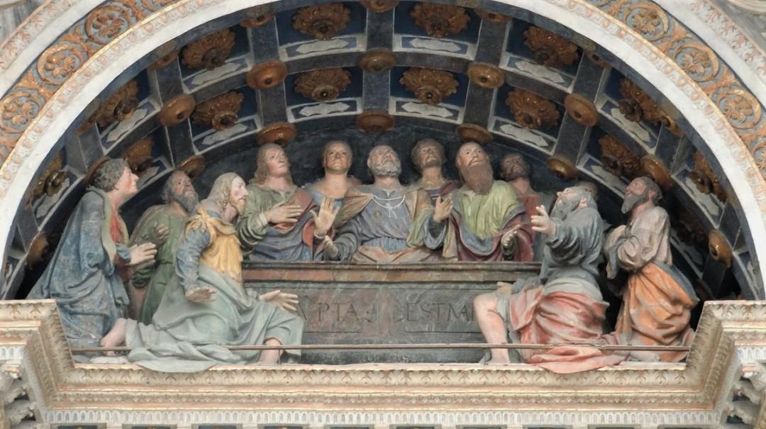 Dettaglio della facciata della Cattedrale di Aosta_cosa vedere nel centro storico