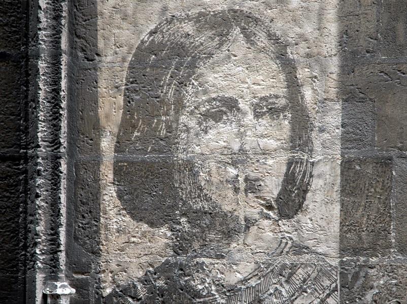 murales di giovanna d'arco a rouen_francia