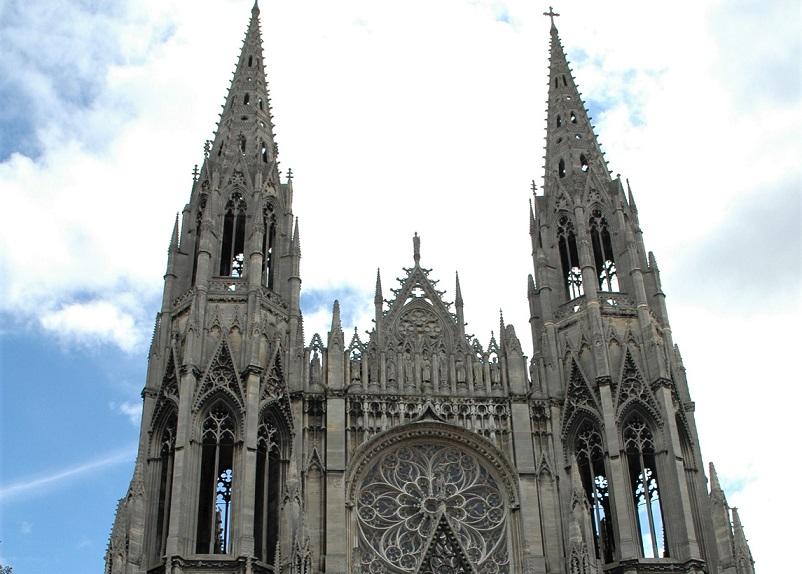 La facciata dell'Abbatiale Saint-Ouen_rouen_itinerario a piedi