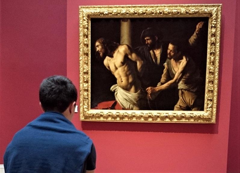 quadro di caravaggio al museo dei belle arti di rouen_normandia