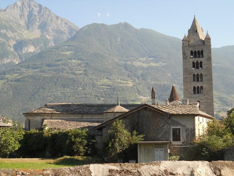 La Collegiata di Sant'Orso nel centro storico di Aosta