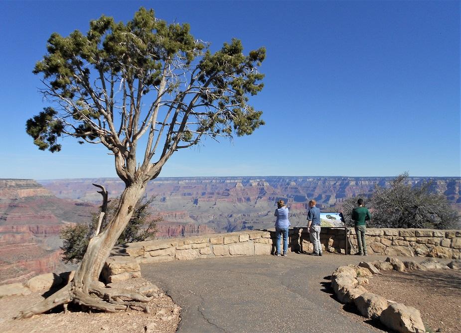 Visitare il Grand Canyon: uno dei view point lungo la Kaibab Trail Route