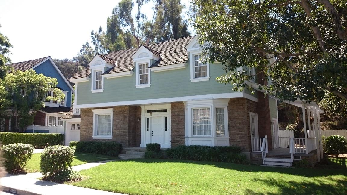 Una casa del set di Disperate Housewives agli Universal Studios di Los Angeles