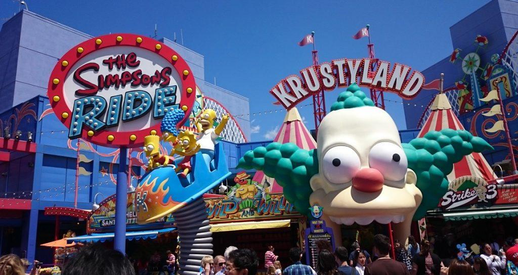 L'area tematica dedicata ai Simpson negli Universal Studios di Los Angeles
