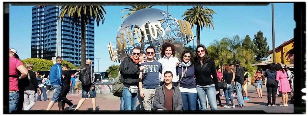 Foto di rito agli Universal Studios di Los Angeles