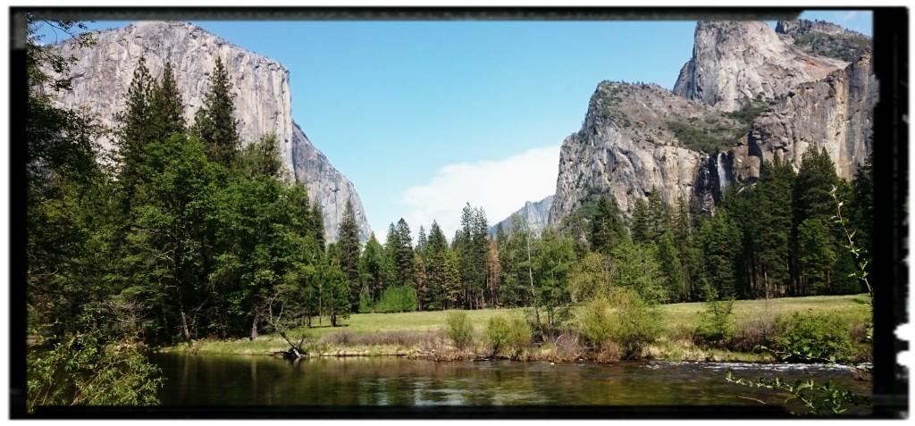 Punto panoramico dello Yosemite National Park negli USA Occidentali