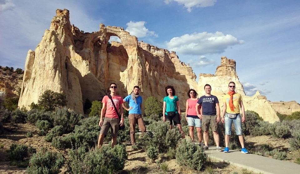 Foto di gruppo durante l'itinerario negli Stati Uniti Occidentali