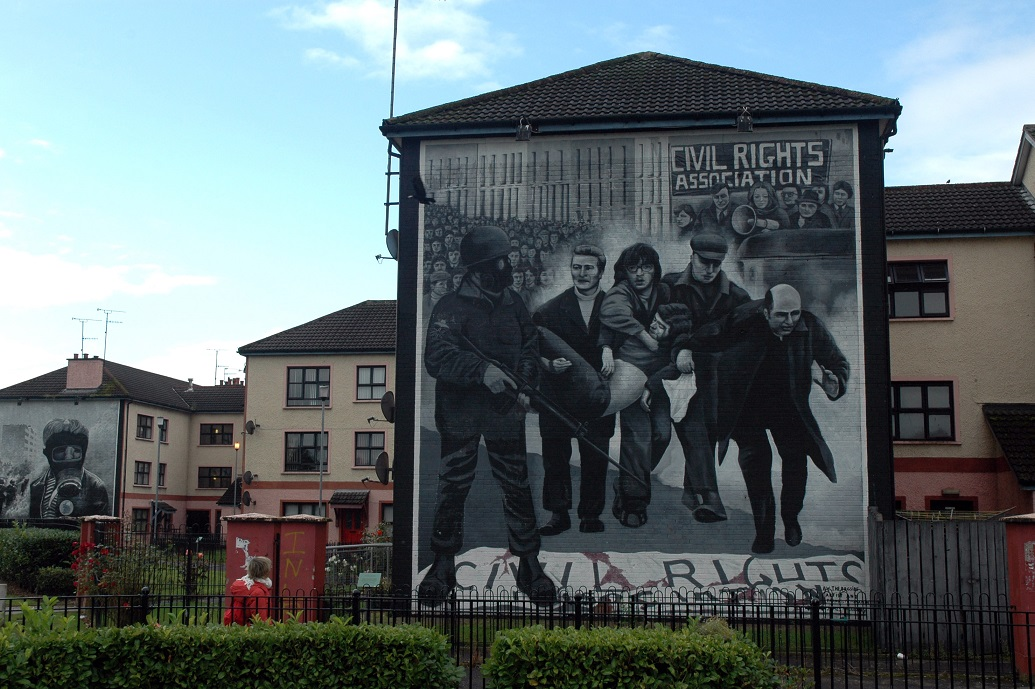 Murales nel quartiere di Bogside a Londonderry