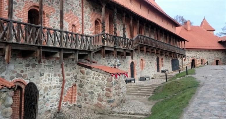 Cortile del Castello di Trakai in Lituania