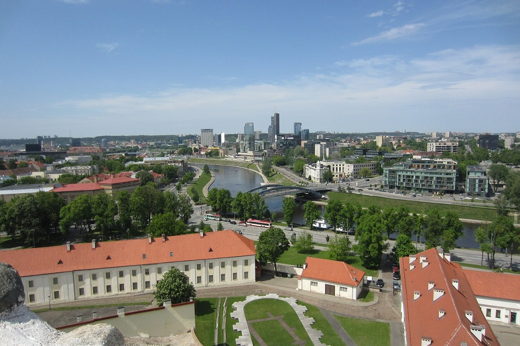 Panorama di Vilnius tra i luoghi di interesse