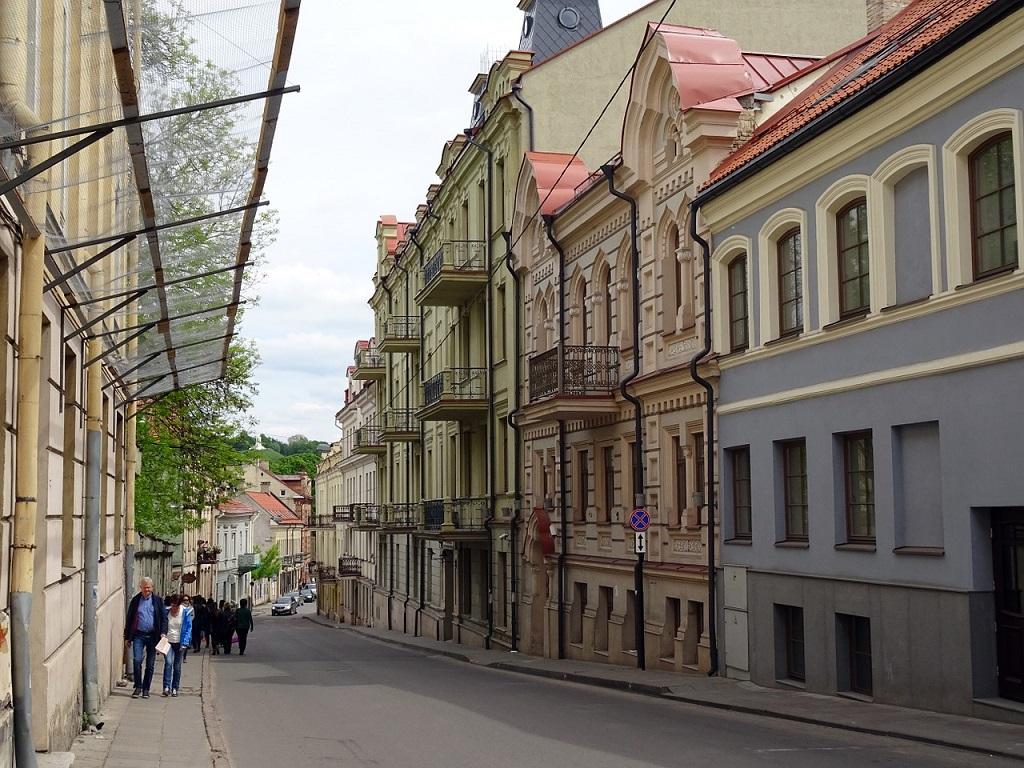 Vicoli del centro storico di Vilnius