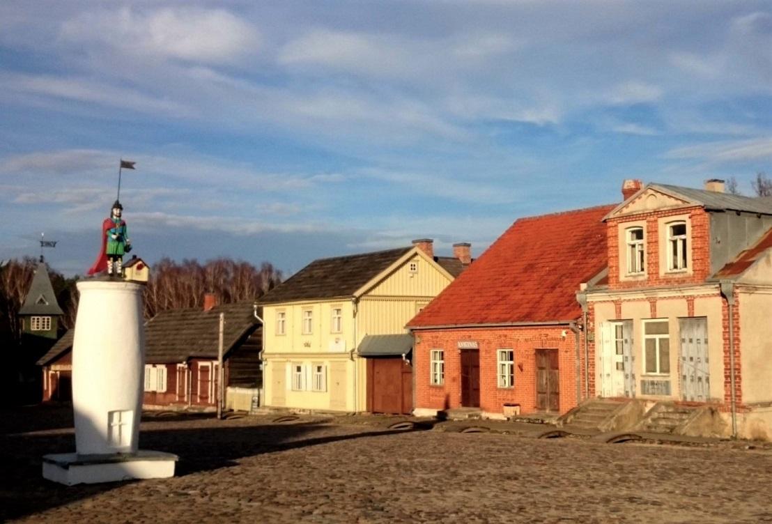 Un villaggio lituano ricostruito nell'Open Air Museum della Lituania