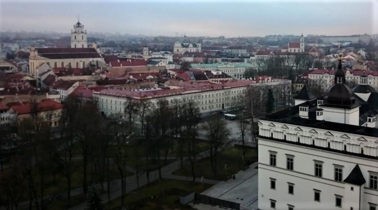 Centro storico di Vilnius visto dalla collina di Gediminas