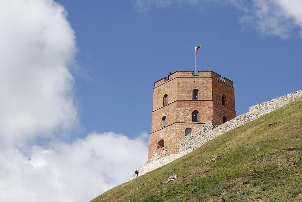 Torre della collina di Gediminas a Vilnius