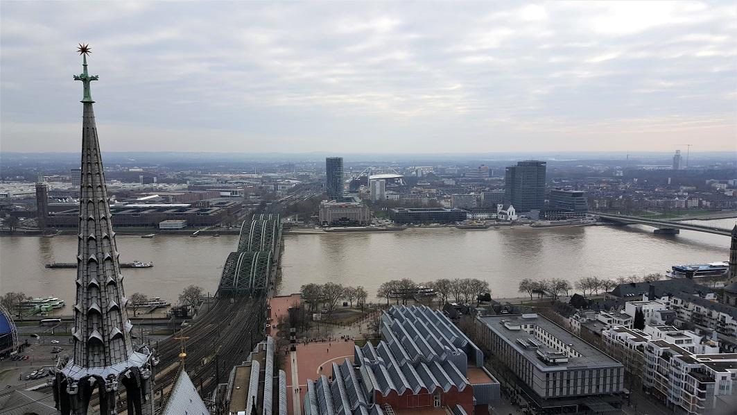 panorama dalla torre del duomo di colonia