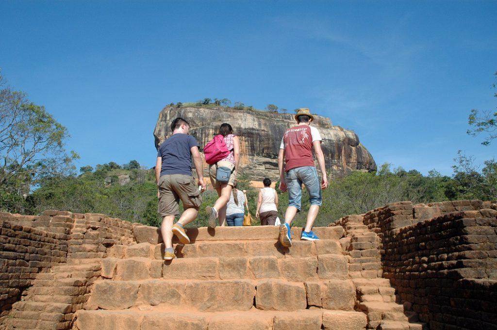 Salita alla Rocca di Sigiriya in Sri Lanka