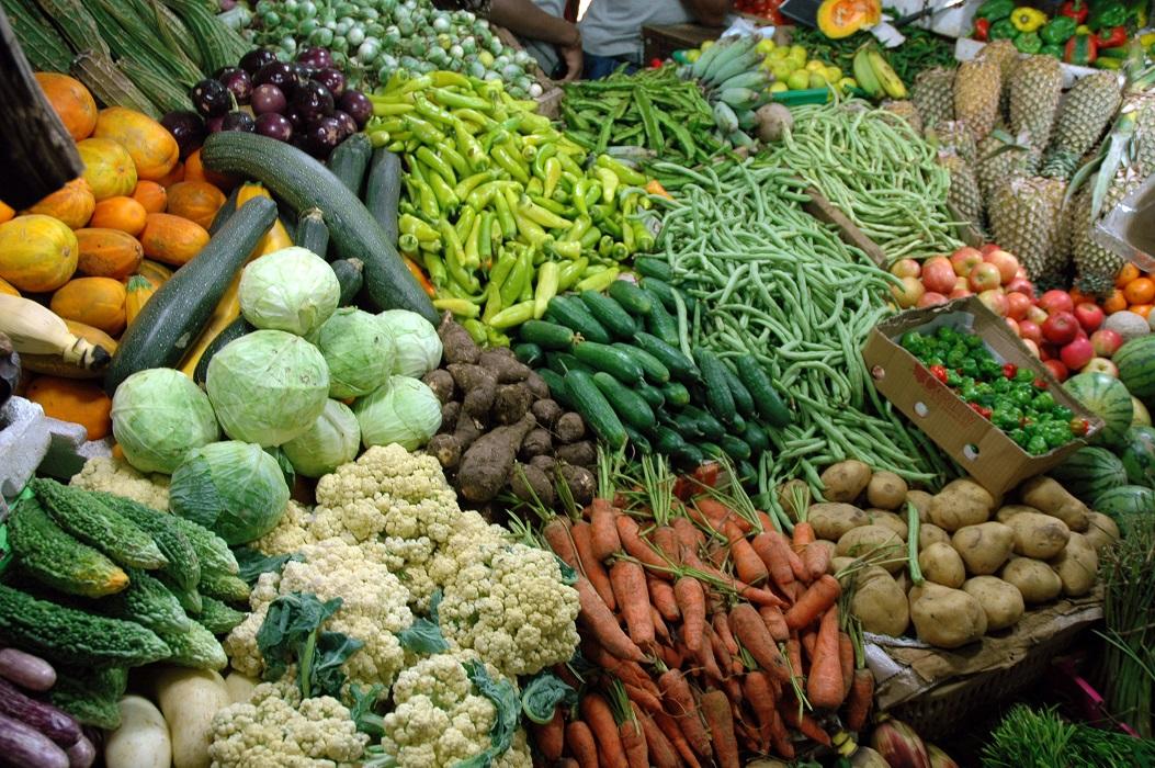 Frutta e verdura in un mercato dello Sri Lanka