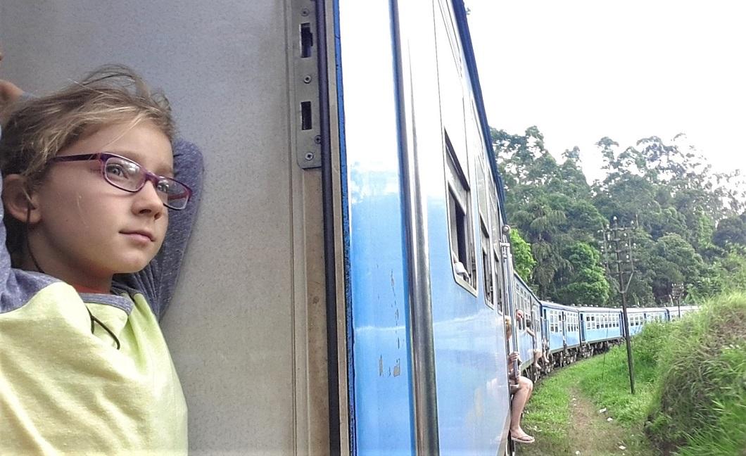 I vagoni del treno per Ella in Sri Lanka