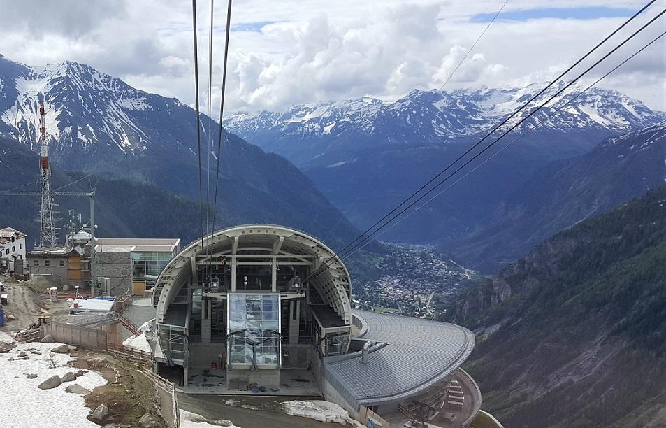 nuova funivia del monte bianco_stazione Pavillon du Mont Fréty