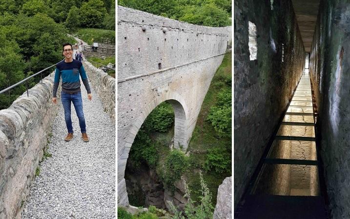 ponte e acuedotto romano vicino ad Aosta_Pont d'Ael