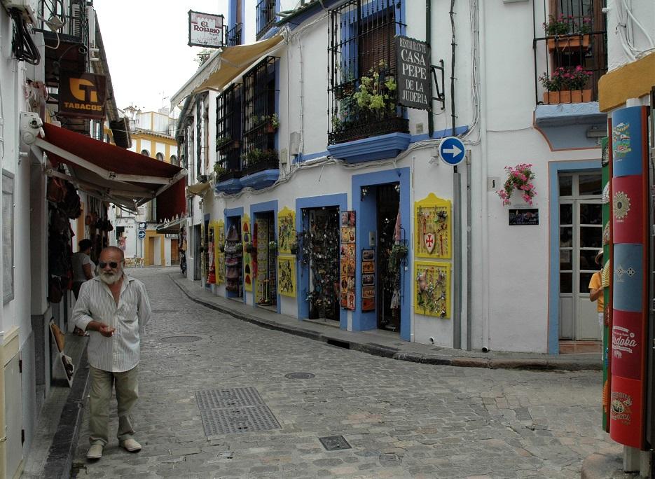 Vicoli nel centro storico di Cordoba in Andalusia