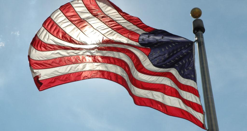 Bandiera americana a Washington