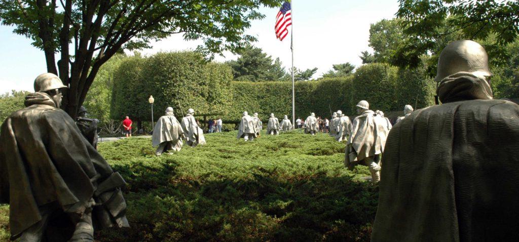 Il Korean War Memorial a Washington DC