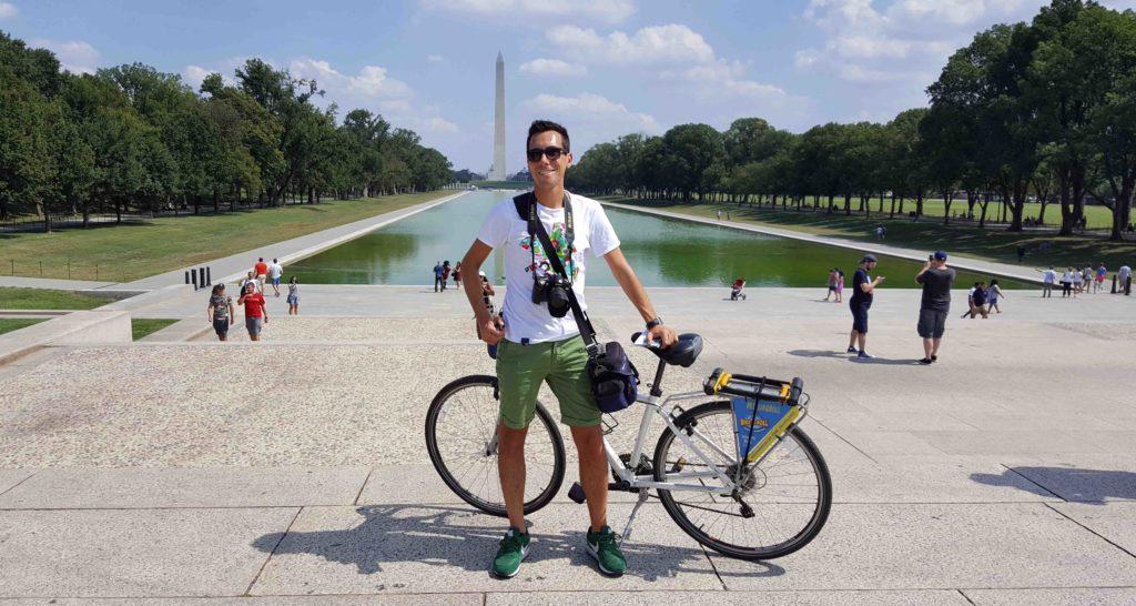 Washington Monument dal Lincoln Memorial di Washington DC