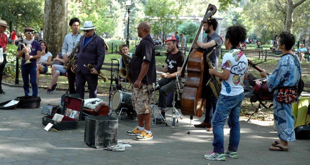 Musicisti a Washington Square