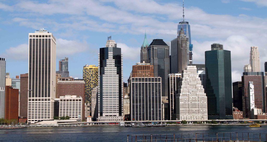 Downtown vista da Brooklyn nell'itinerario a New York di 7 giorni