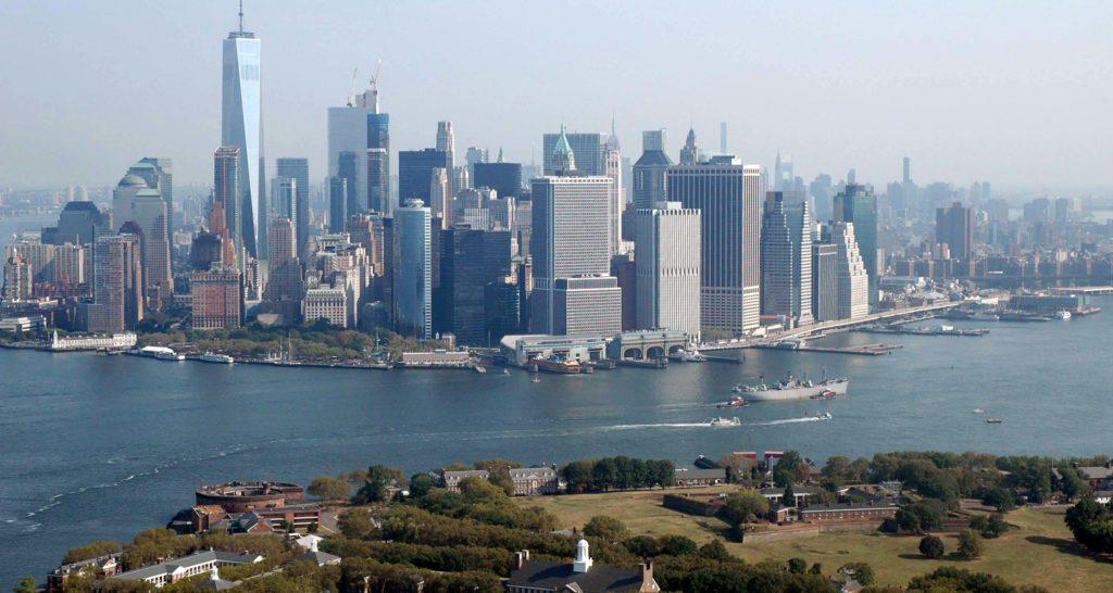 Downtown vista dall'elicottero
