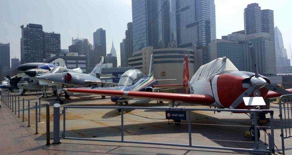Flight deck dell'Intrepid Museum a New York