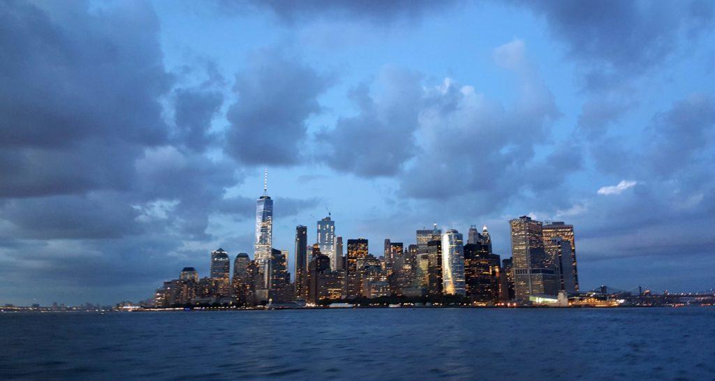 Panorama durante la crociera fluviale Manhattan