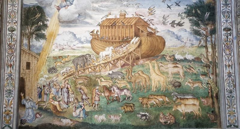 unicorni sull'arca di Noè a Milano San Maurizio al monastero maggiore