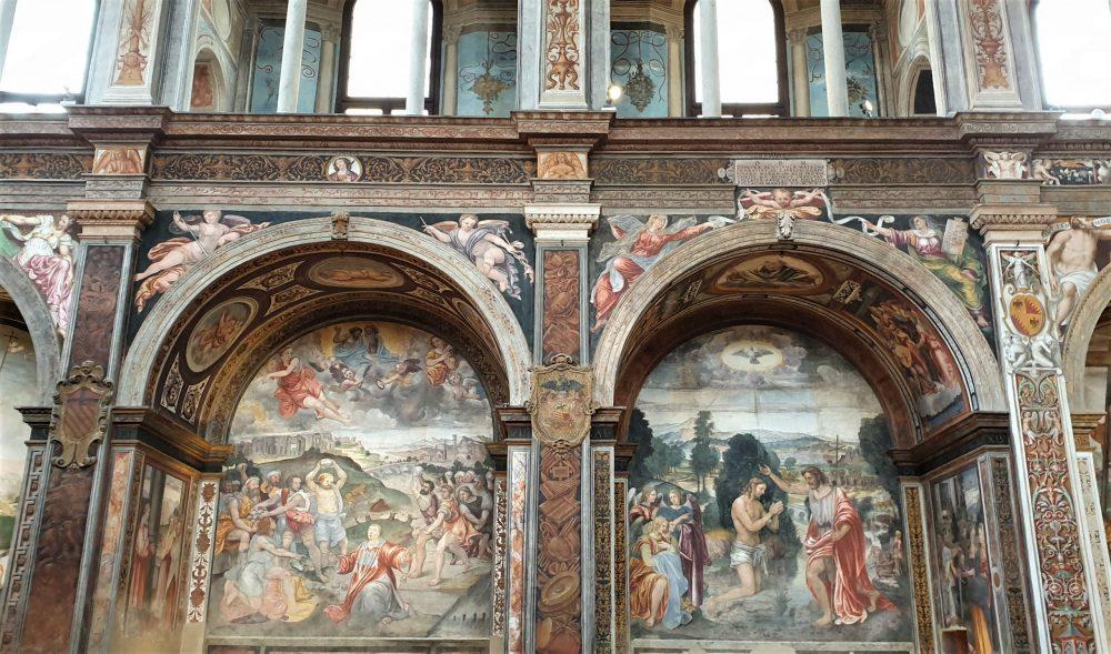 affreschi di bernardino luini nella cappella sistina di milano