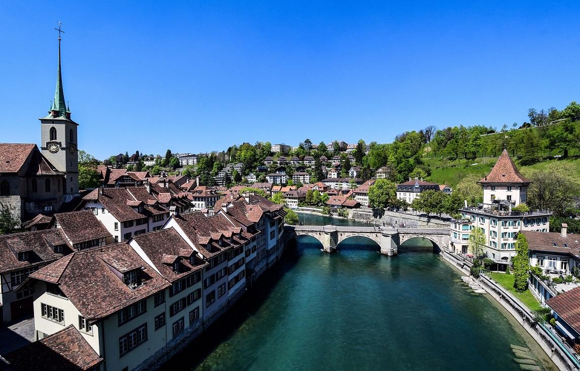 Il ponte ed il centro storico di Berna