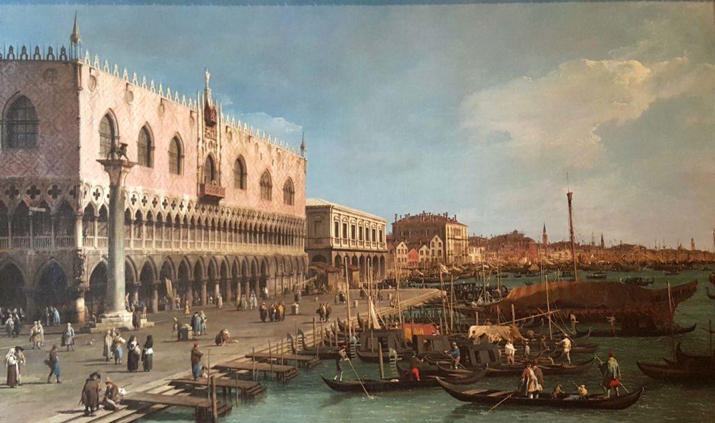 quadro del canaletto ai musei del castello sforzesco di milano