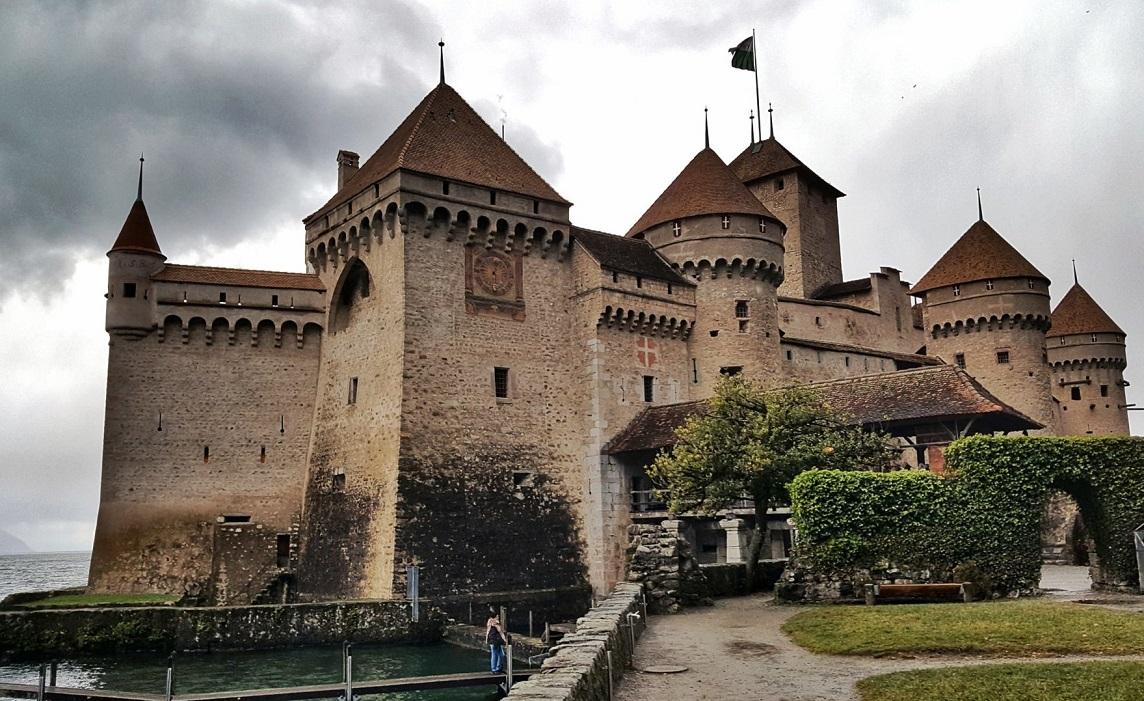 il castello di chillon a Montreux in Svizzera
