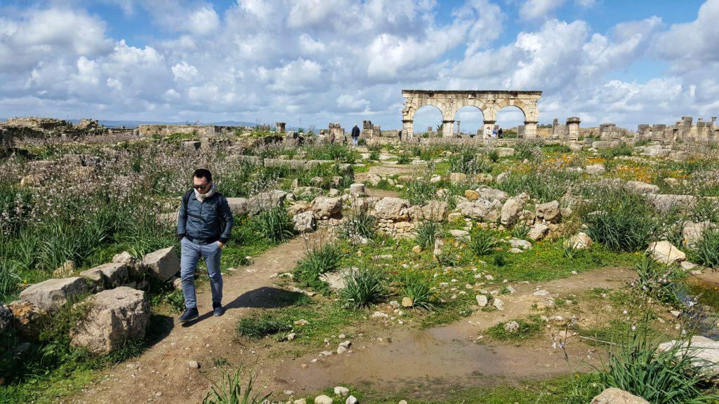 le rovine della città romana di Volubilis in Marocco