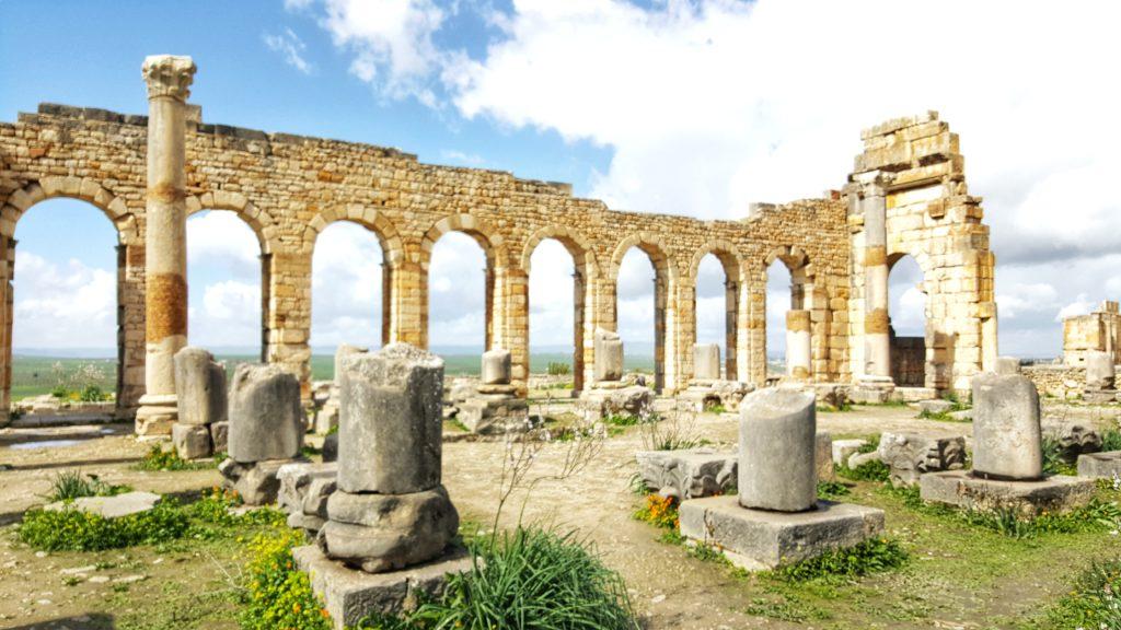 Il Foro e la Basilica di Volubilis in Marocco