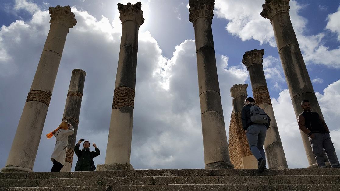 le colonne del Campidoglio di Volubilis