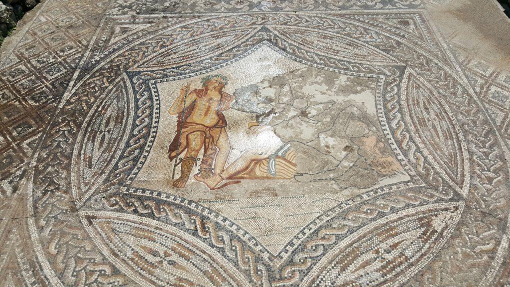 mosaico della Casa del Cavaliere con Bacco e Arianna