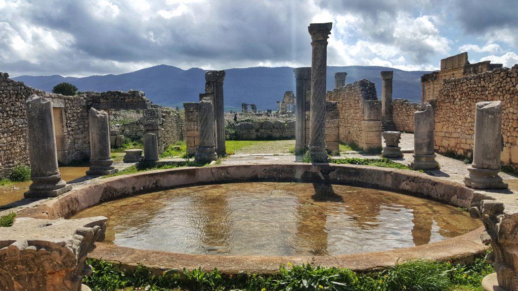 La Casa delle Colonne a Volubilis_città romana del Marocco