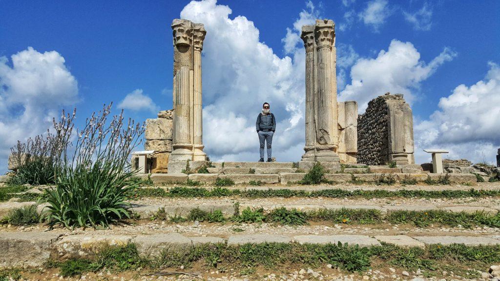 itinerario a volubilis in marocco