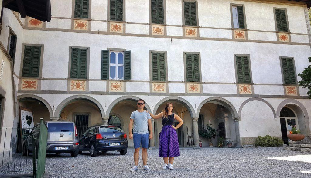 La facciata di Palazzo Re a Ranzanico