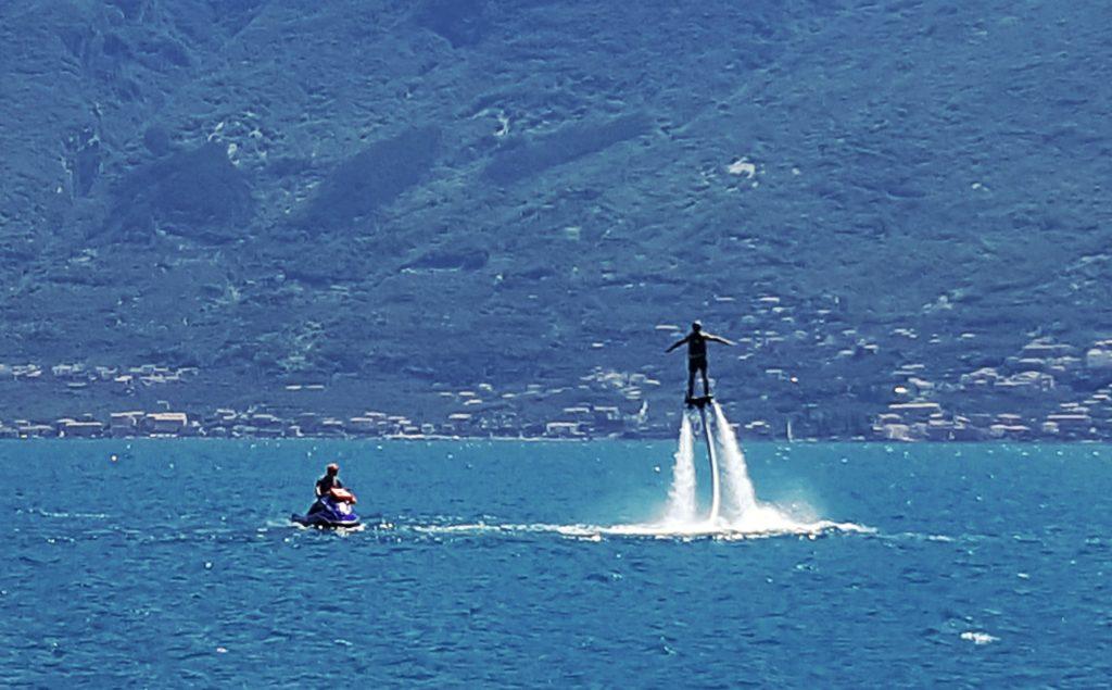 Flyboard al Porto di Tignale_lago di garda