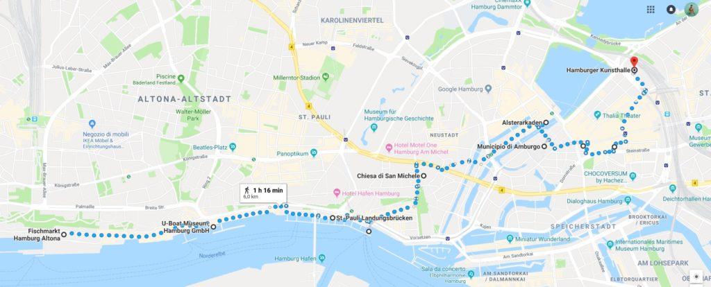 mappa_amburgo_cosa vedere_itinerario