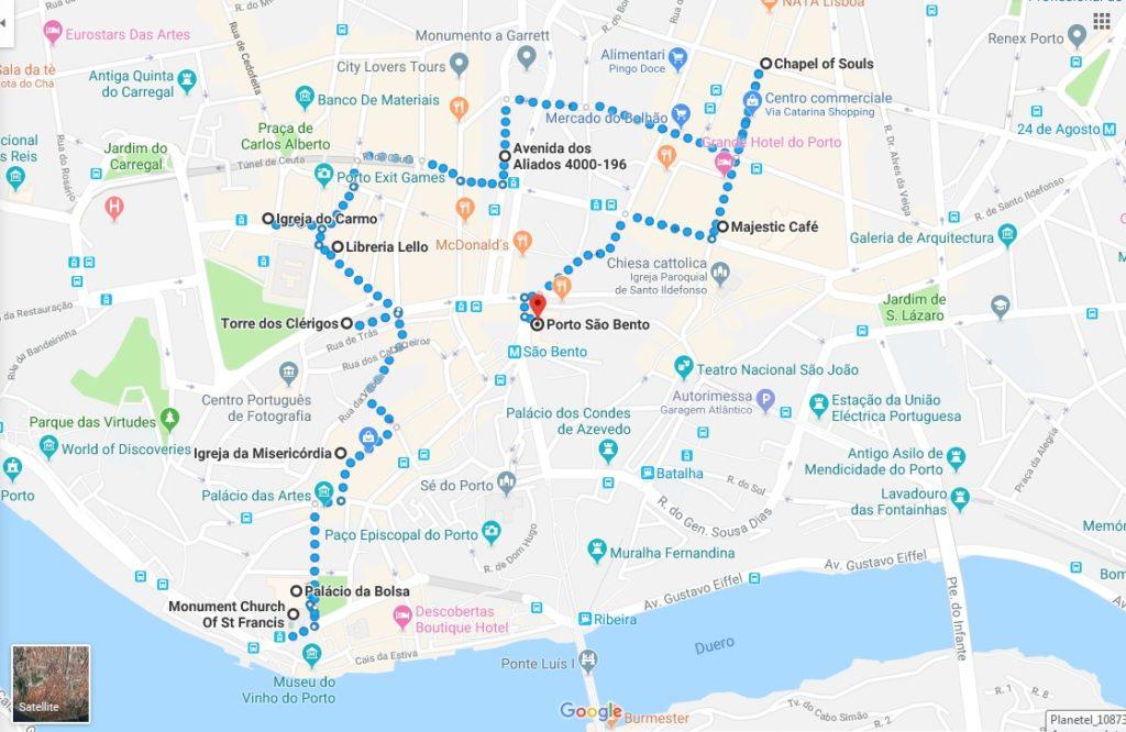 mappa porto_itinerario_cosa vedere