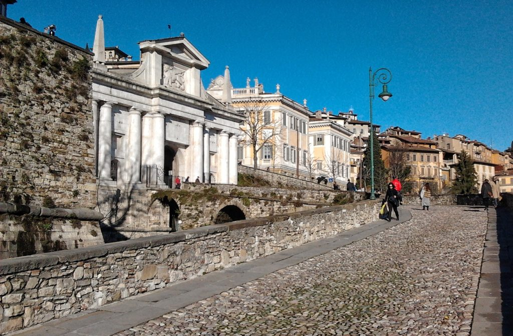 itinerario mura bergamo