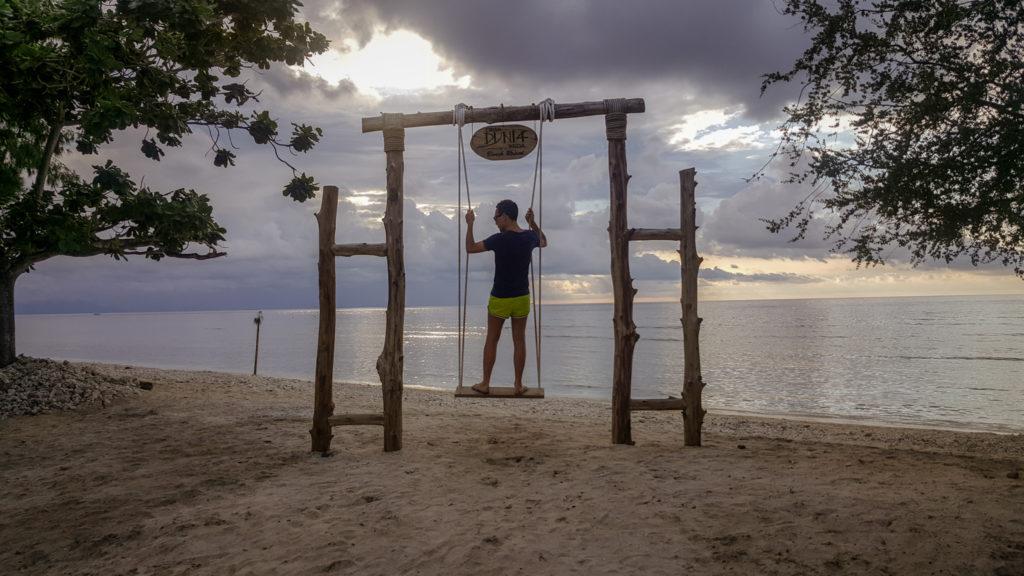 Una spiaggia di Gili Trawangan_come arrivare da bali_isole gili